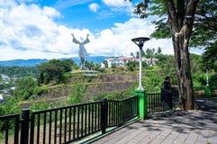 Статуя благословения Христоса в Manado, северном Сулавеси стоковая фотография rf