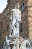 Статуя бога Нептуна Стоковое Изображение RF