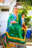 Статуя бога Jeu Sieang лож Стоковое фото RF