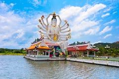 Статуя бодхисаттвы Будды Cundi 18 оружий Стоковые Фотографии RF