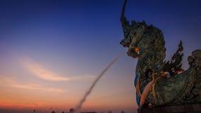 Статуя большой змейки Стоковые Фото