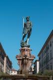 Статуя бронзы Нептуна с скипетром трёхзубца Стоковое Фото