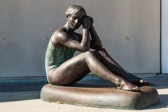Статуя бросания тела олимпийского гимнаста Терезы Kulikowski Стоковые Фотографии RF