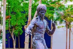 Статуя Брюс Ли в саде звезд стоковые фотографии rf