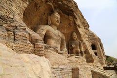 Статуя Будды, гроты пещеры Yungang, Datong, Китай Стоковое Фото