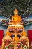 статуя Будды золотистая стоящая Стоковое Изображение RF