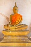 Статуя Будды на виске Стоковая Фотография