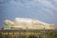 Статуя Будды на виске Vinh Trang в городе Mytho, Вьетнаме Стоковое Изображение RF