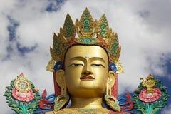 Статуя Будды около монастыря Diskit в долине Nubra, Ladakh, Индии Стоковые Изображения