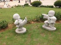статуя буддийского монаха Стоковая Фотография RF