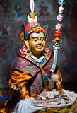 Статуя буддистов на Thiksey Gompa в Ladakh, Индии стоковое фото rf