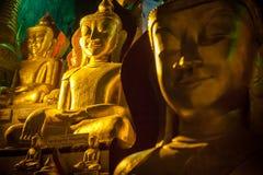 Статуя Будды внутри пещеры Pindaya в Мьянме - Бирме Стоковая Фотография RF