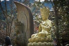 Статуя Будды в виске в Японии Стоковая Фотография RF