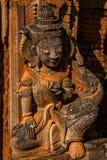 Статуя Будды в виске Bagan, Бирме (Мьянма) стоковое фото rf
