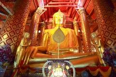 Статуя Будды в парке Ayutthaya историческом Стоковое Изображение