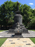 Статуя Будды в Borobudur, Ява Стоковые Фото