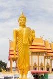 статуя Будды золотистая тайская Стоковое Фото