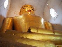 Статуя Будды, золотое изображение Будды, bagan, Бирма Стоковое фото RF