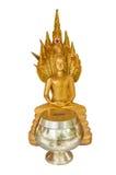Статуя Будды изолята Стоковое Изображение