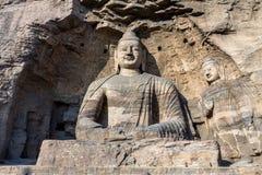Статуя Будды на гротах Yungang в Datong, Китае Стоковое Изображение RF