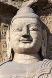 Статуя Будды на гротах Yungang в Datong, Китае Стоковая Фотография