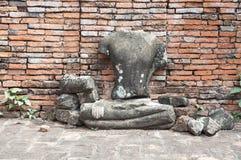 Статуя Будды руин Стоковое Изображение RF