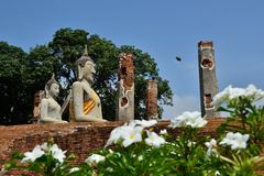 статуя Будды старая Стоковое Изображение