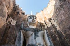 Статуя Будды achana Phra в виске приятеля si wat на sukhothai Таиланде Стоковая Фотография RF