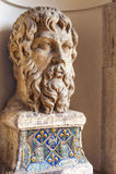 Статуя бюста Скульптура бюста внутри вилла d Este Стоковое Фото