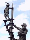Статуя блицов Ливерпуля стоковая фотография rf