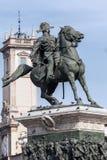 Статуя Виктора Emmanuel II в милане Стоковое Изображение RF