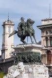 Статуя Виктора Emmanuel II в милане Стоковое Изображение