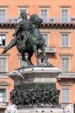 Статуя Виктора Emmanuel II в милане Стоковые Фото