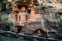 Статуя виска форта Gwalior Jain в Индии стоковая фотография