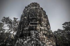 Статуя виска Bayon, Камбоджа стоковая фотография