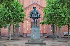 Статуя Вильяма i, принц апельсина, в Висбадене, Германия стоковые изображения