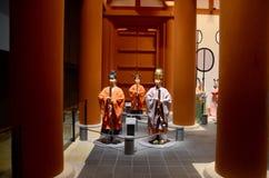 Статуя внутри музея Осака истории Стоковая Фотография