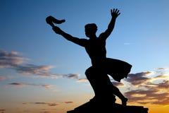 Статуя вольности на холме Gellert, Будапешт Стоковое Фото