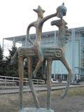 Статуя в Астане стоковая фотография