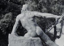 Статуя в вилле Borghese садовничает, Рим, Италия Стоковое Изображение