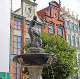 Статуя в Гданьске, Польша Нептуна Стоковые Изображения RF