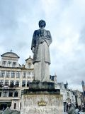 Статуя в искусствах Des Mont, Брюссель, Бельгия Стоковые Фото