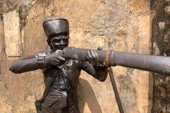 Статуя в крепости Галле в Шри-Ланке стоковое фото rf