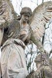 Статуя в кладбище Стоковое фото RF
