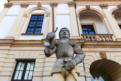 Статуя в Магдебурге Германии Стоковое Фото