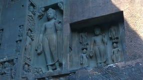 Статуя в пещере 1 Ajantha Стоковые Изображения RF