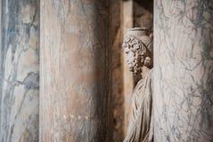 Статуя в римском театре детали Мериды Стоковые Изображения RF