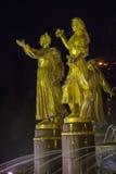 Статуя в дружбе народов фонтана Стоковая Фотография RF