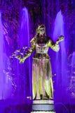 Статуя в дружбе народов фонтана Стоковые Изображения