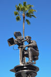 Статуя в студиях Universal, Голливуд кинорежиссера Стоковые Фотографии RF